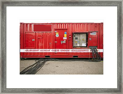 Heavy Duty High Power Industrial Framed Print by Corepics