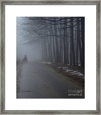 Heavy Foggy Day Framed Print