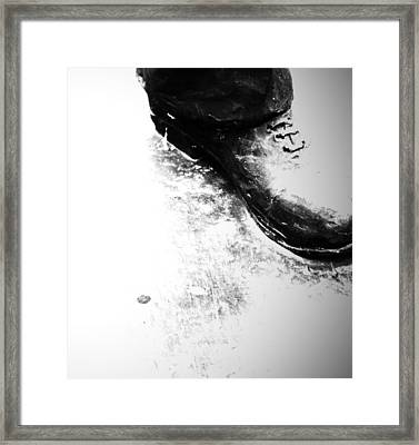 Heavy Foot Framed Print by Empty Wall