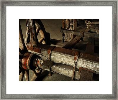 Heavy Hauler - Vintage Wagon Framed Print by Steven Milner