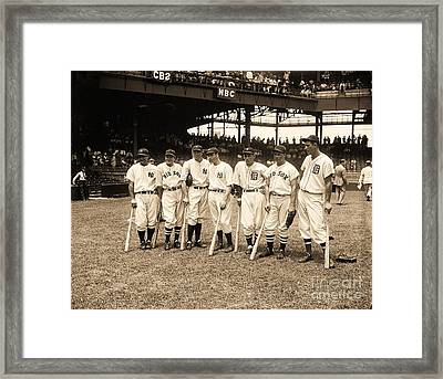 Heavy Hitters Framed Print by Pg Reproductions