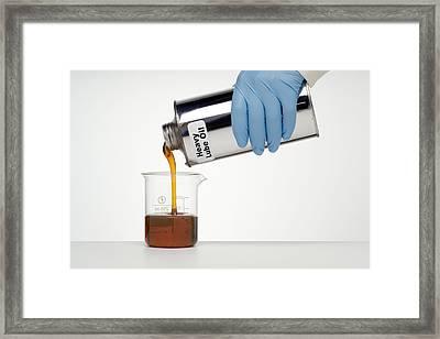 Heavy Lubricating Oil Framed Print