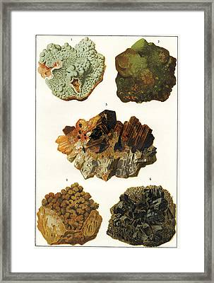 Heavy Metal Minerals Framed Print by Sheila Terry