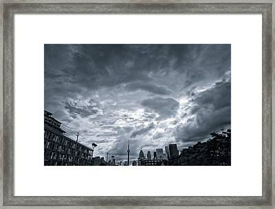 Heavy Sky Framed Print by Luba Citrin