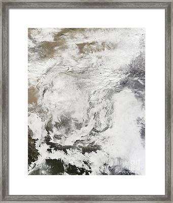 Heavy Snowfall In China Framed Print by Stocktrek Images