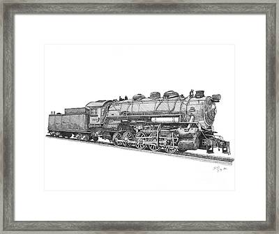 Heavy Steam Switcher 0-10-0 Framed Print by Calvert Koerber