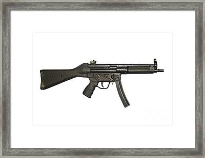 Heckler And Koch 9mm Mp5 Submachine Gun Framed Print by Andrew Chittock
