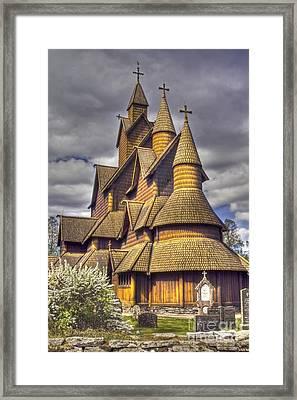 Heddal Stave Church  Framed Print by Heiko Koehrer-Wagner