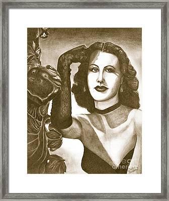 Heddy Lamar Framed Print by Debbie DeWitt