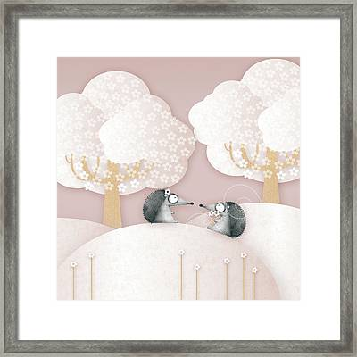 Hedgehogs - May Framed Print by ©cupofsnowflakes
