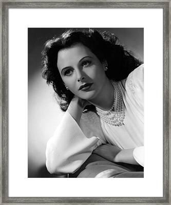 Hedy Lamarr, 1942, Photograph Framed Print by Everett