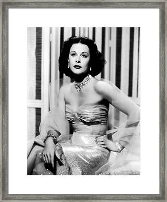 Hedy Lamarr In Promotional Photo For My Framed Print by Everett