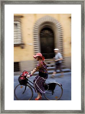 Heels On Wheels Framed Print by Lee Stickels