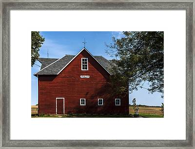 Heflin Barn Headon Framed Print by Edward Peterson