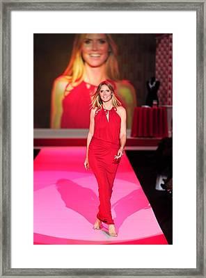Heidi Klum Wearing A John Galliano Gown Framed Print