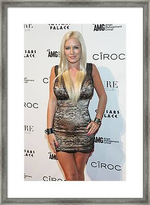 Heidi Montag At Arrivals For Pure Framed Print by Everett