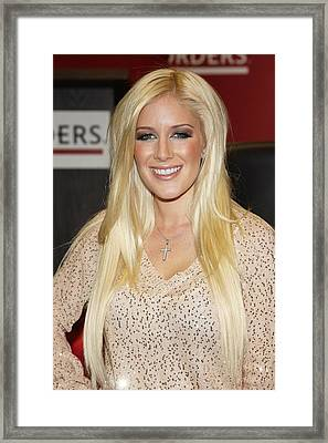 Heidi Montag At In-store Appearance Framed Print by Everett