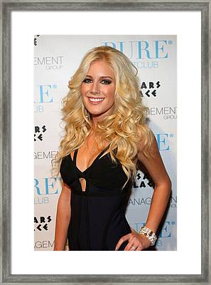 Heidi Montag In Attendance For Pures Framed Print by Everett