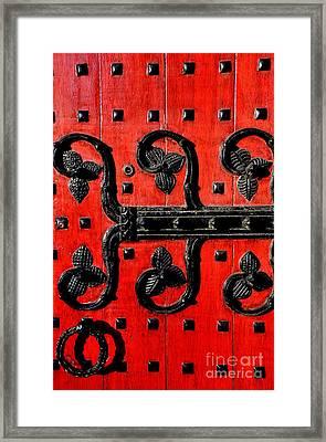 Heinz Chapel Door Detail Framed Print by Thomas R Fletcher