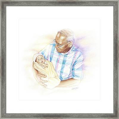 Held From Heaven Framed Print by Steven Tetlow