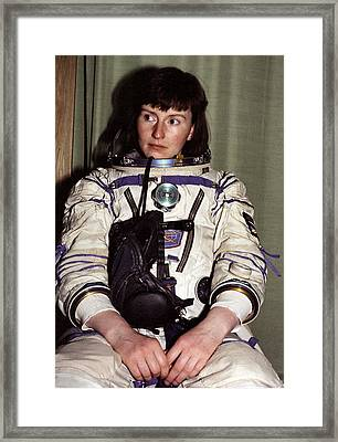 Helen Sharman, British Astronaut Framed Print by Ria Novosti