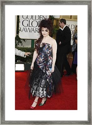 Helena Bonham Carter Wearing A Viviene Framed Print by Everett