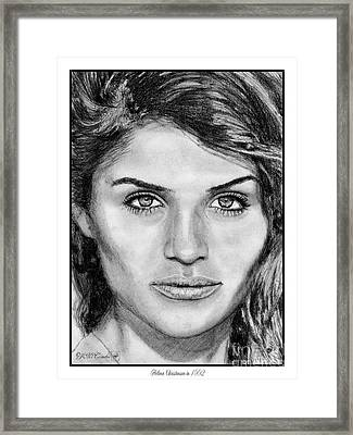 Helena Christensen In 1992 Framed Print
