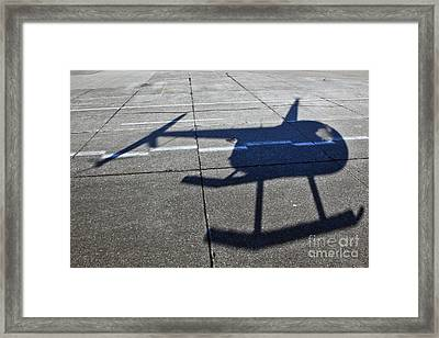 Helicopter Shadow Framed Print by Francis Zera