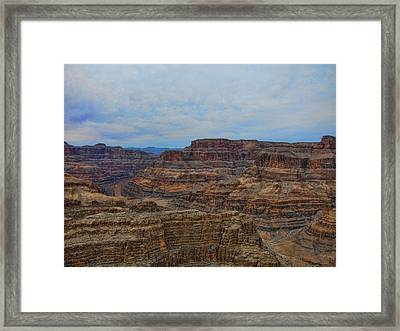 Helicopter View Of The Grand Canyon Framed Print by Douglas Barnard