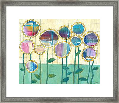 Framed Print featuring the painting Helio by Casey Rasmussen White