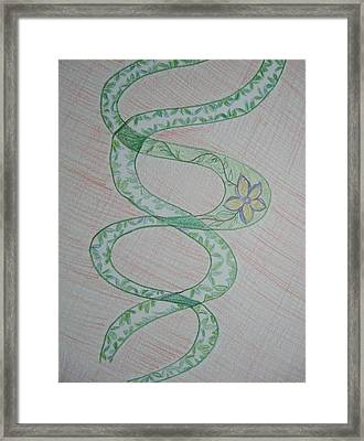 Framed Print featuring the painting Helix  by Sonali Gangane