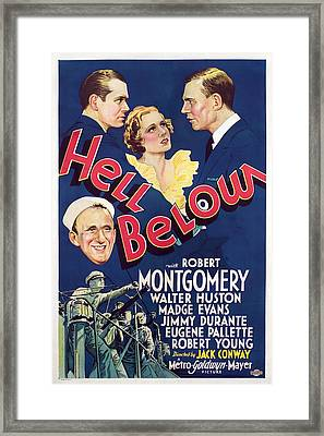 Hell Below, Robert Montgomery, Madge Framed Print by Everett