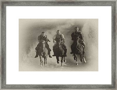 Hell Bent For Leather Framed Print by Rianna Stackhouse
