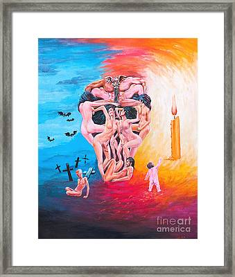 Hell In The Imaginary Framed Print