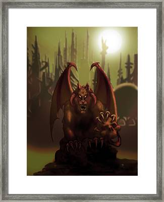 Hell Wolf Framed Print by William McDonald