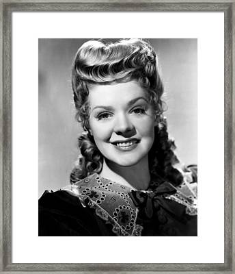 Hello, Frisco, Hello, Alice Faye, 1943 Framed Print by Everett