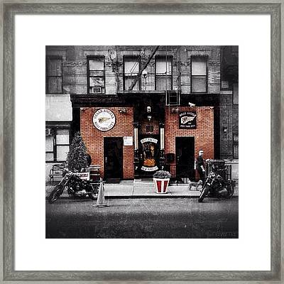 Hells Angels Nyc Framed Print by Natasha Marco