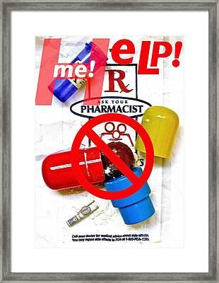Help Me Framed Print by Ricky Sencion