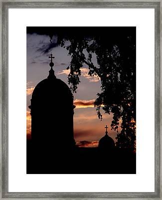 Helsinki Sunset Framed Print by Lee Versluis