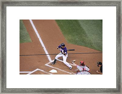 Helton Poised To Swing Framed Print by Cynthia  Cox Cottam