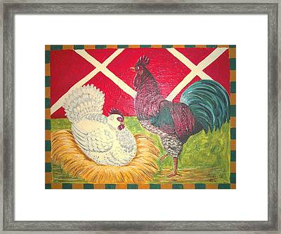 Hen House Framed Print by Paula Greenlee