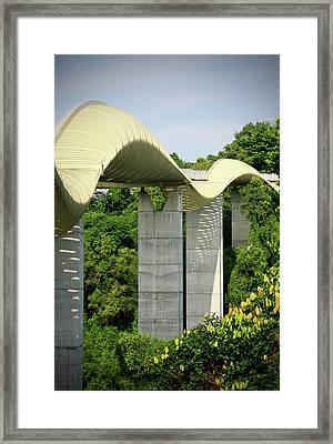 Henderson Waves Bridge Framed Print by Weesen Photos