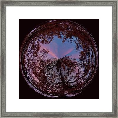 Hendersonville Sunset Orb Framed Print