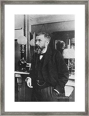 Henri Poincare, French Polymath Framed Print by Science Source
