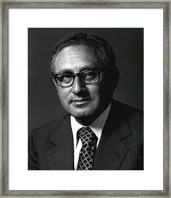 Henry A. Kissinger Was Secretary Framed Print by Everett