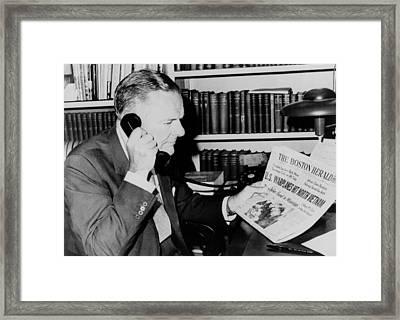Henry Cabot Lodge, Us Ambassador Framed Print