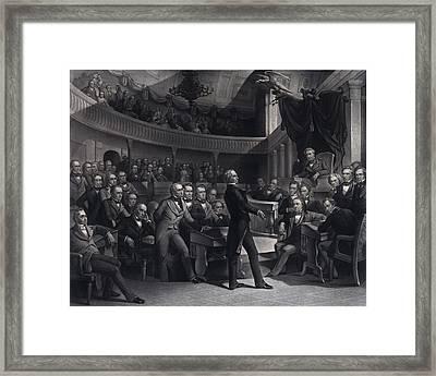 Henry Clay 1777-1852 Addressing Framed Print by Everett