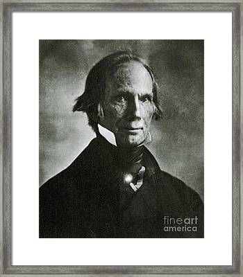 Henry Clay Sr., American Politician Framed Print