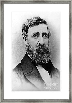Henry David Thoreau, American Author Framed Print