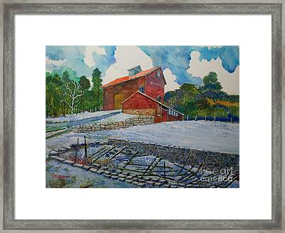 Henry Fowler Farm Framed Print by Donald McGibbon